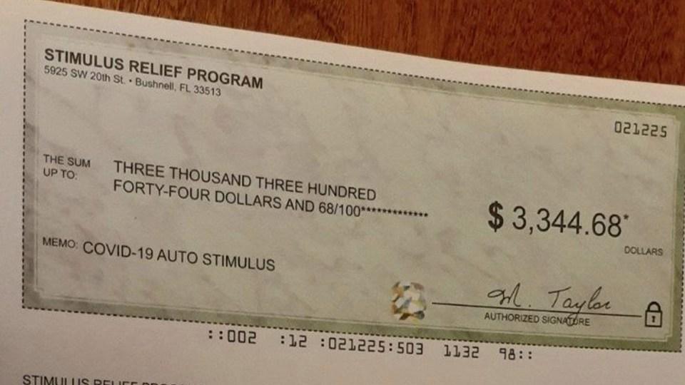 Fake Stimulus Check