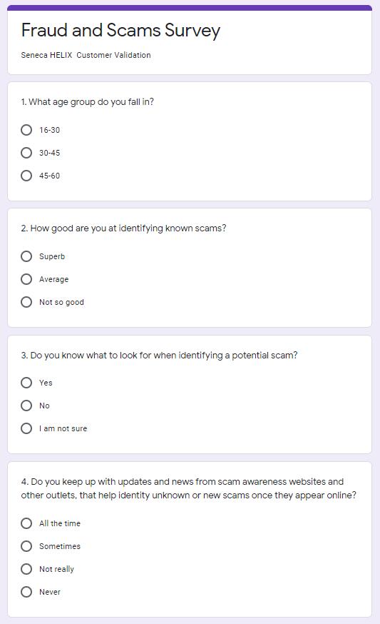 unauthorized victim survey