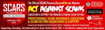 SCARS RomanceScamsNOW.com the official Education & Support Website for Romance Scam Victims