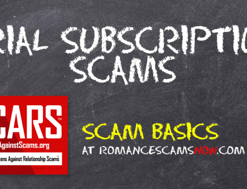 SCARS™ Scam Basics: Trial Subscription Scams