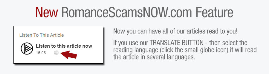 Now you can have all of our articles read to you! If you use our TRANSLATE BUTTON - then select the reading language (click the small globe icon) it will read the article in several languages.