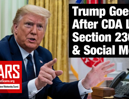 SCARS™ Breaking News: President Trump Signs Historic Executive Order To Address Flaws In Communications Decency Act With Focus On Social Media