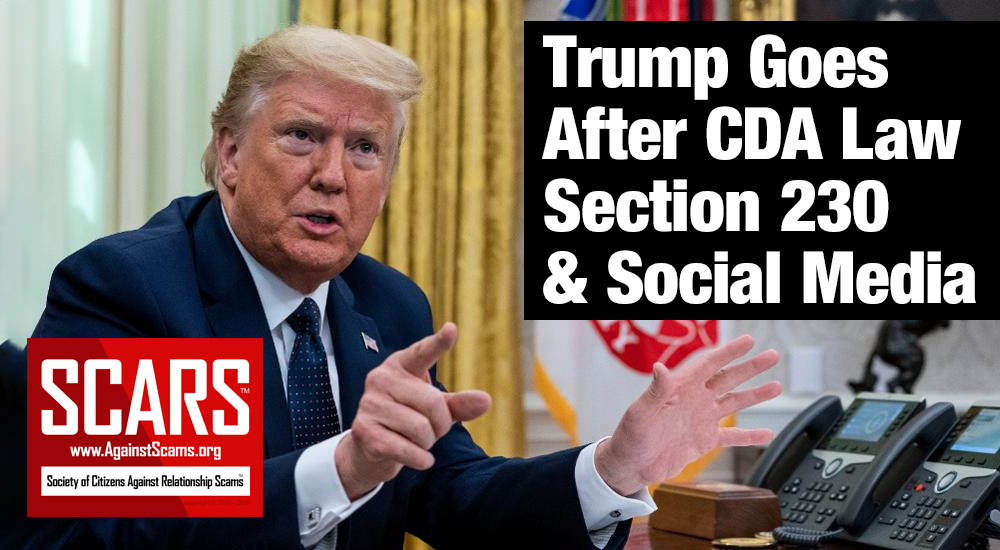 SCARS™ Breaking News: President Trump Signs Historic Executive Order To Address Flaws In Communications Decency Act With Focus On Social Media 2