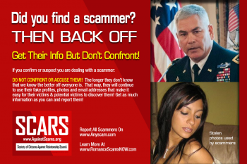 Do not confront scammers