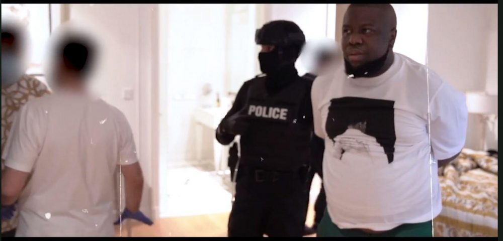 Hushpuppi when he was busted by Dubai Police