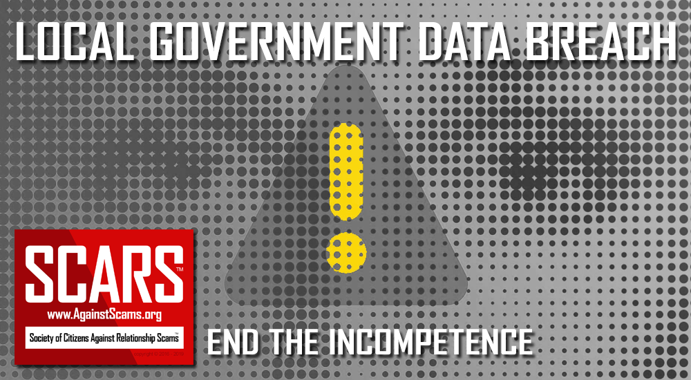 SCARS™ Commentary: Stop Local Government Data Incompetence 7