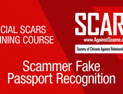 SCARS™ Anti-Scam Training Course: Scammer Fake Passport Recognition