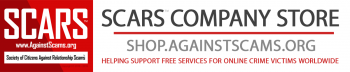 SCARS Company Store - Helping to fund free services for scam victims worldwide