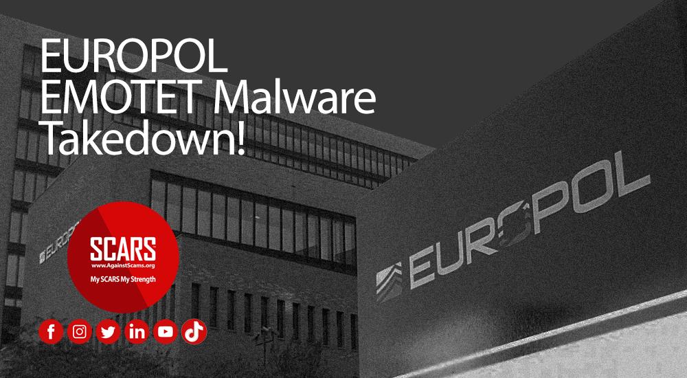Europol EMOTET-Malware Takedown