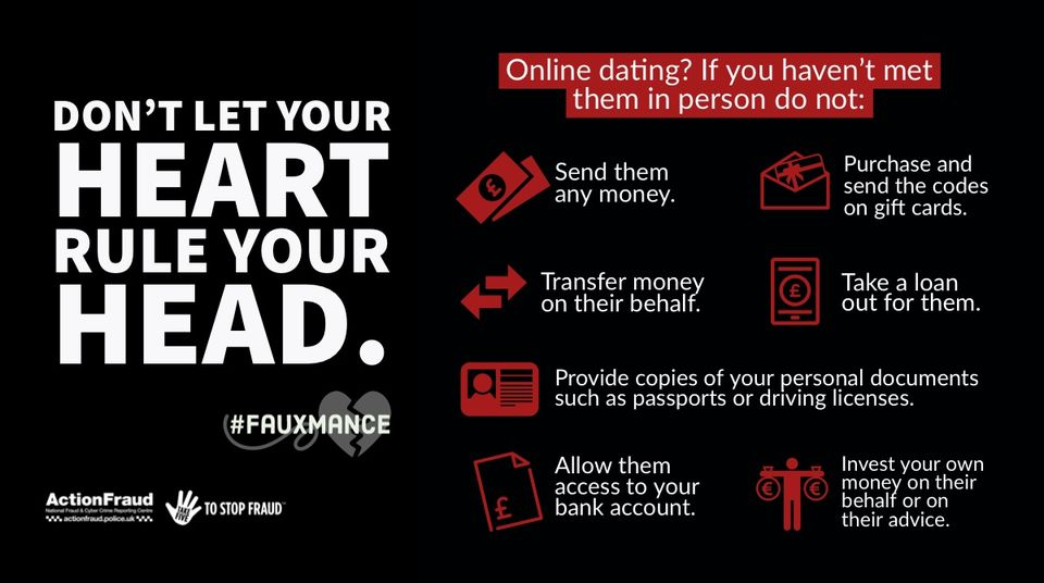 ActionFraud Romance Scams Infographic
