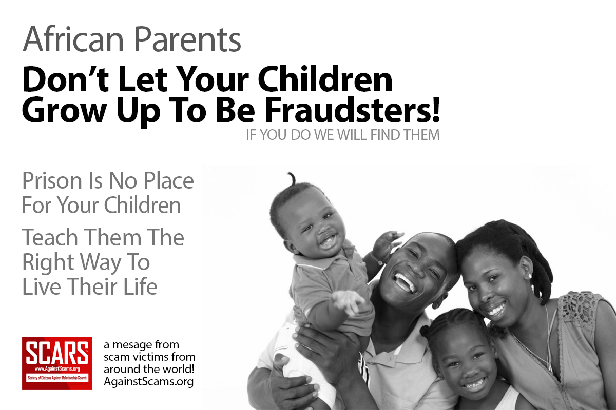 Parents don't let your children grow up to be scammers!