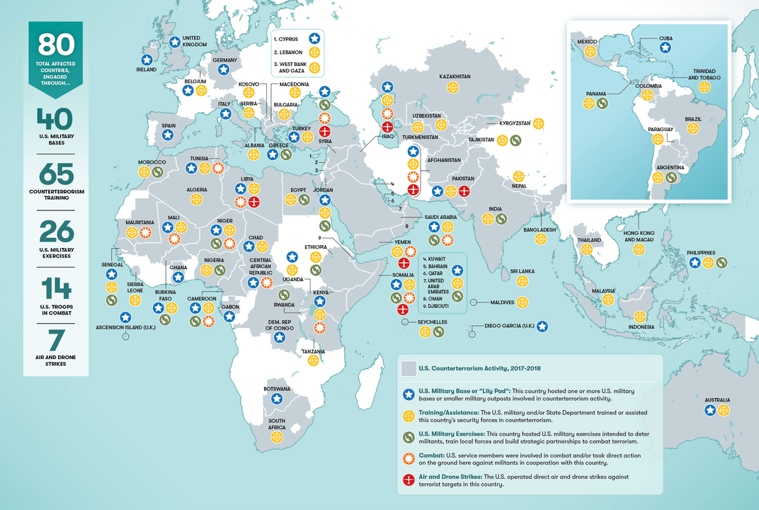 U.S. Military Forces Around The World 2021