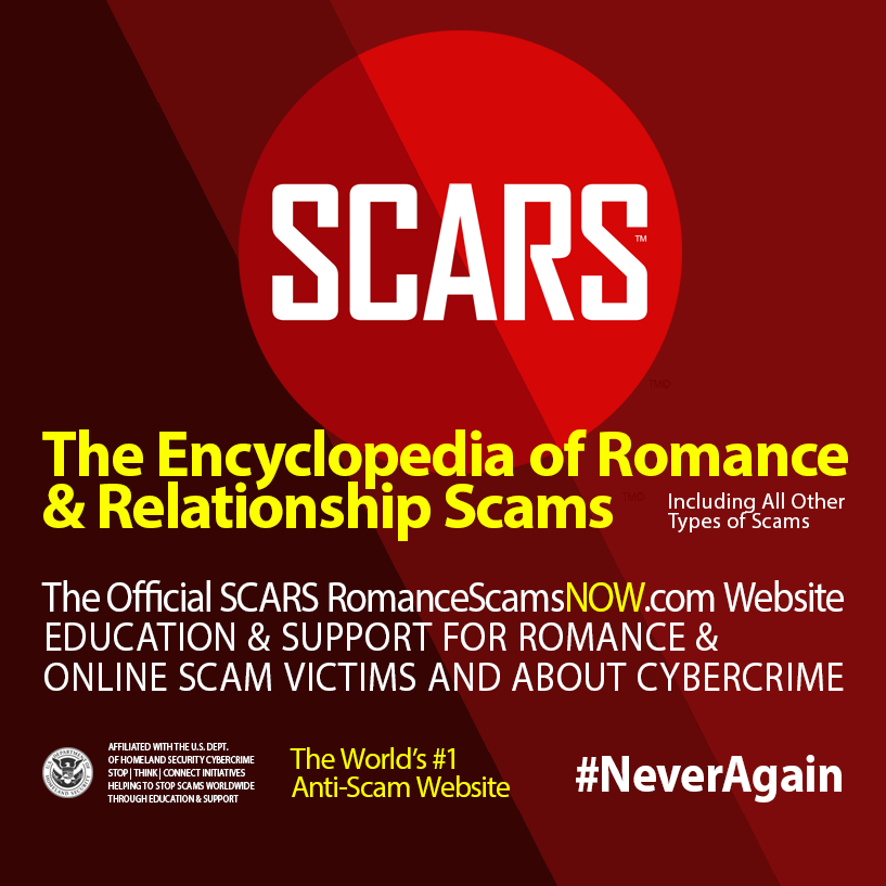 The World's #1 Encyclopedia of Romance & Relationship Scams – An Official SCARS Website Logo