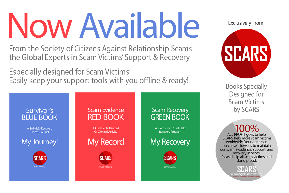 Available Now from SCARS Publishing on the SCARS Store shop.againstscams.org